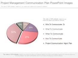Project Management Communication Plan Powerpoint Images