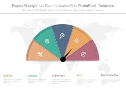Project Management Communication Plan Powerpoint Templates