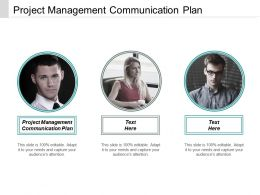Project Management Communication Plan Ppt Powerpoint Presentation Icon Example Cpb