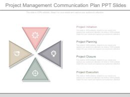 Project Management Communication Plan Ppt Slides