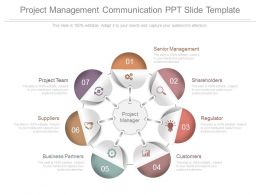 Project Management Communication Ppt Slide Template