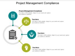 Project Management Compliance Ppt Powerpoint Presentation Infographics Visual Aids Cpb