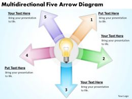 project_management_consultancy_multidirectional_five_arrow_diagram_powerpoint_templates_0523_Slide01