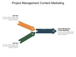 Project Management Content Marketing Ppt Powerpoint Presentation Show Portfolio Cpb