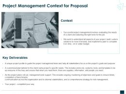 Project Management Context For Proposal Ppt Powerpoint Presentation Deck