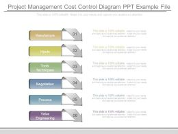 Project Management Cost Control Diagram Ppt Example File