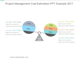 Project Management Cost Estimation Ppt Example 2017