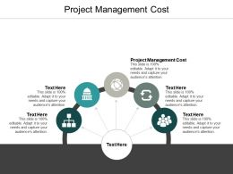 Project Management Cost Ppt Powerpoint Presentation Show Deck Cpb