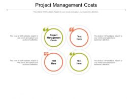 Project Management Costs Ppt Powerpoint Presentation Outline Inspiration Cpb