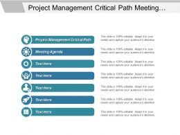 Project Management Critical Path Meeting Agenda Customer Service Cpb