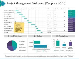Project Management Dashboard Agree On Objectives