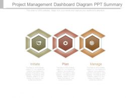 Project Management Dashboard Diagram Ppt Summary