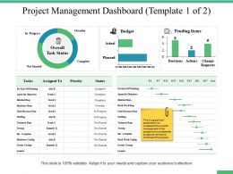 Project Management Dashboard Ppt Professional Example Introduction