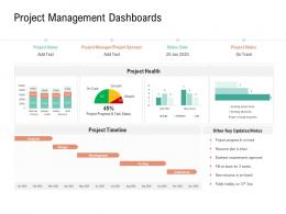 Project Management Dashboards Project Management Team Building Ppt Topics