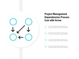 Project Management Dependencies Process Icon With Arrow