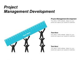 Project Management Development Ppt Powerpoint Presentation Outline Mockup Cpb