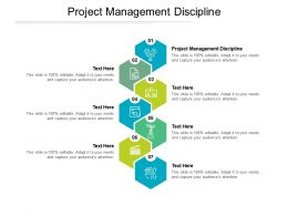 Project Management Discipline Ppt Powerpoint Presentation Gallery Display Cpb