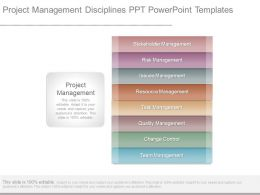 Project Management Disciplines Ppt Powerpoint Templates