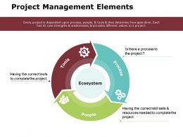 Project Management Elements Ppt Powerpoint Presentation Gallery Elements