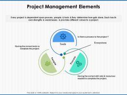 Project Management Elements Process Ppt Powerpoint Presentation File Layout