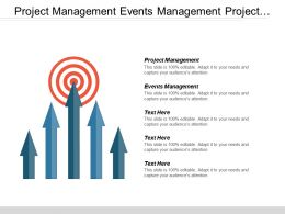 Project Management Events Management Project Planning Lead Generation Sales Cpb