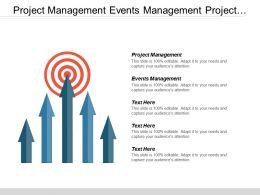 Project Management Events Management Project Planning Lead Generation Sales Cpb