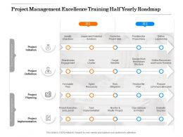 Project Management Excellence Training Half Yearly Roadmap