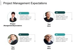 Project Management Expectations Ppt Powerpoint Presentation Inspiration Example Cpb