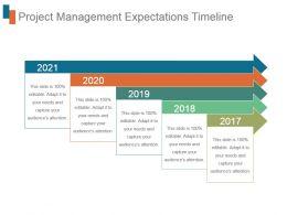Project Management Expectations Timeline Ppt Slides Download