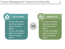 Project Management Features And Benefits Ppt Example Professional