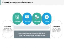 Project Management Framework Ppt Inspiration Layouts