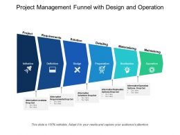 Project Management Funnel With Design And Operation