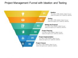 Project Management Funnel With Ideation And Testing