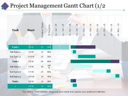 Project Management Gantt Chart 1 Ppt Pictures Professional