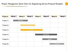 Project Management Gantt Chart For Engineering Service Proposal Template Ppt Picture Slides