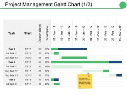 Project Management Gantt Chart Ppt Pictures Visual Aids