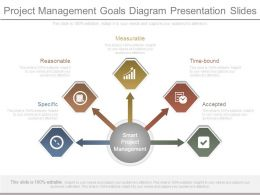 Project Management Goals Diagram Presentation Slides