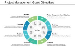Project Management Goals Objectives Ppt Powerpoint Presentation Show Deck Cpb