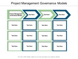 Project Management Governance Models Ppt Powerpoint Presentation Ideas Themes Cpb