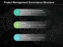 Project Management Governance Structure Ppt Powerpoint Presentation Infographics Outline Cpb