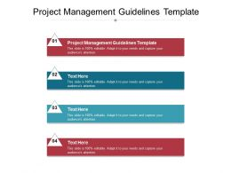 Project Management Guidelines Template Ppt Powerpoint Presentation Portfolio Objects Cpb