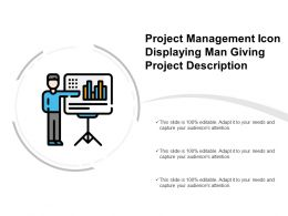 Project Management Icon Displaying Man Giving Project Description