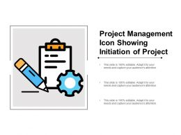 Project Management Icon Showing Initiation Of Project