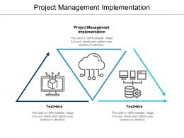 Project Management Implementation Ppt Powerpoint Presentation Pictures Designs Download Cpb