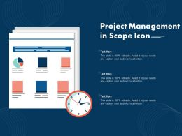 Project Management In Scope Icon