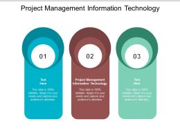 Project Management Information Technology Ppt Powerpoint Presentation Pictures Slides Cpb