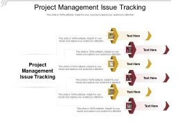 Project Management Issue Tracking Ppt Powerpoint Presentation Styles Objects Cpb