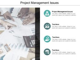Project Management Issues Ppt Powerpoint Presentation Slides Designs Cpb