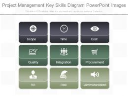 Project Management Key Skills Diagram Powerpoint Images