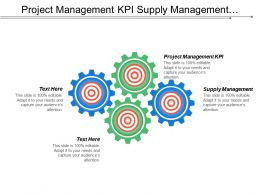 Project Management Kpi Supply Management Program Supervisor Training Cpb